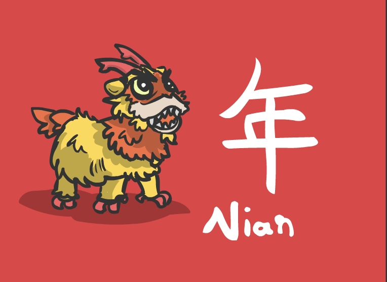 Nian Monster clipart #8, Download drawings