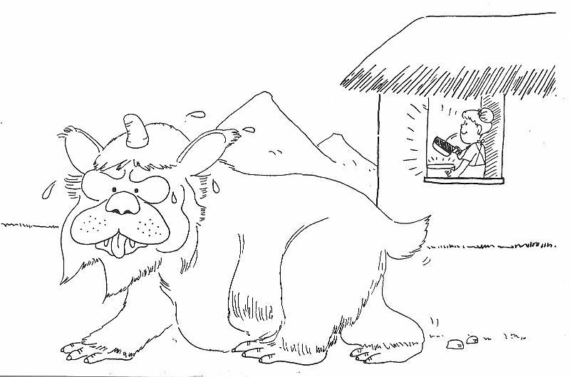 Nian Monster coloring #18, Download drawings