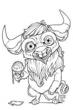 Nian Monster coloring #10, Download drawings