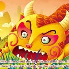 Nian Monster coloring #12, Download drawings