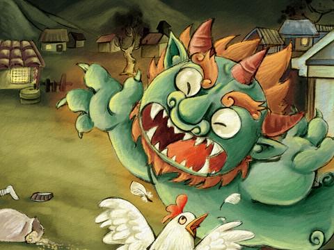Nian Monster coloring #9, Download drawings