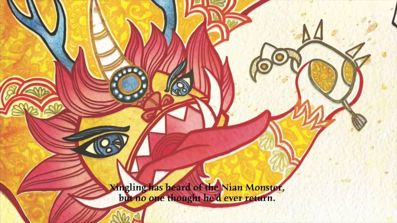 Nian Monster coloring #13, Download drawings