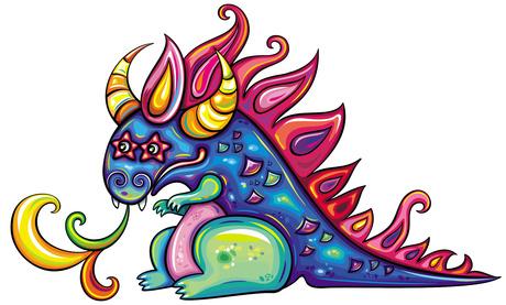 Nian Monster coloring #4, Download drawings
