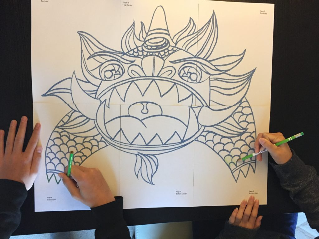Nian Monster coloring #1, Download drawings