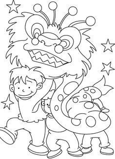 Nian Monster coloring #19, Download drawings