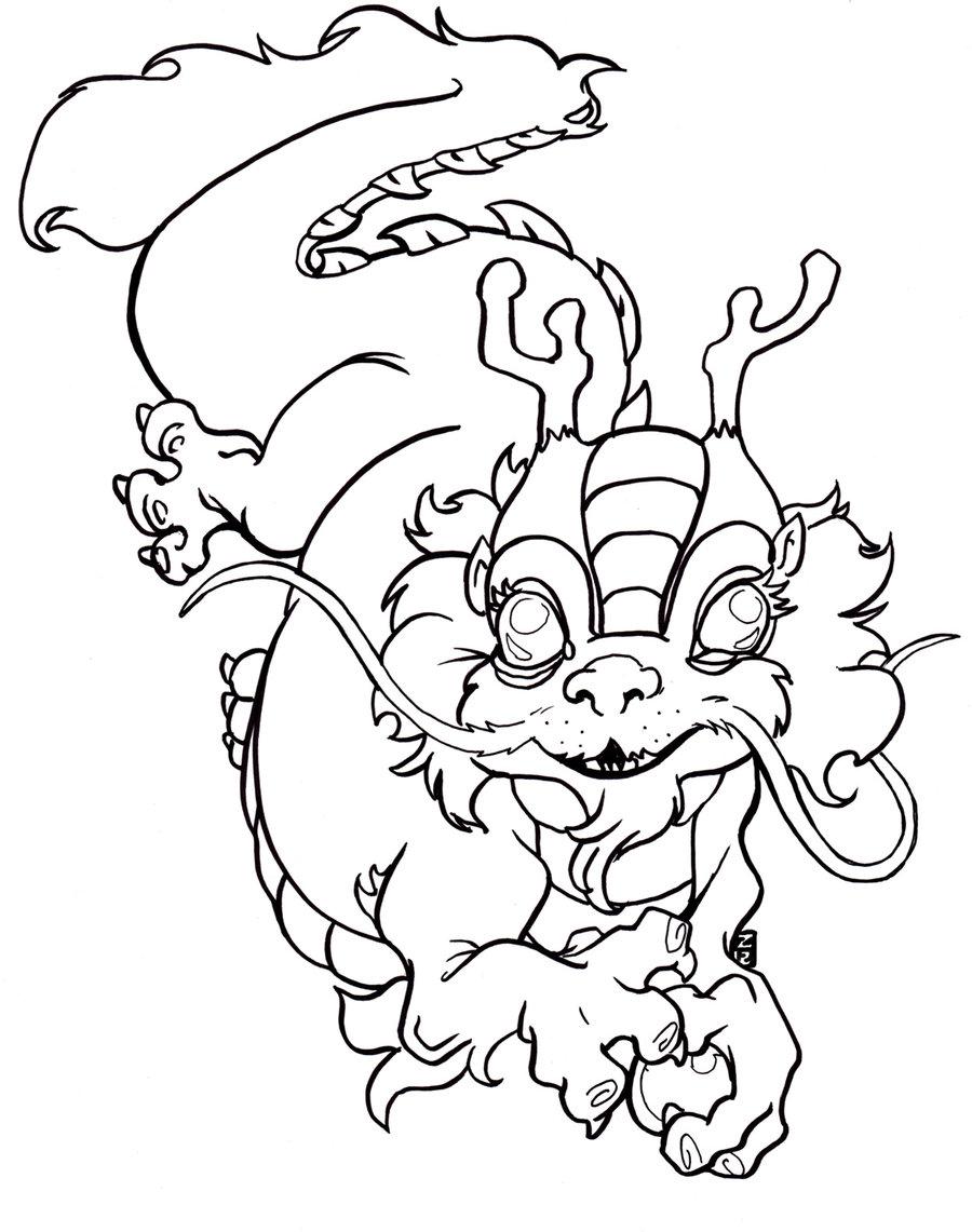 Nian Monster coloring #7, Download drawings