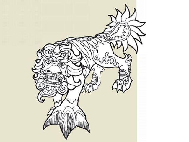 Nian Monster coloring #2, Download drawings