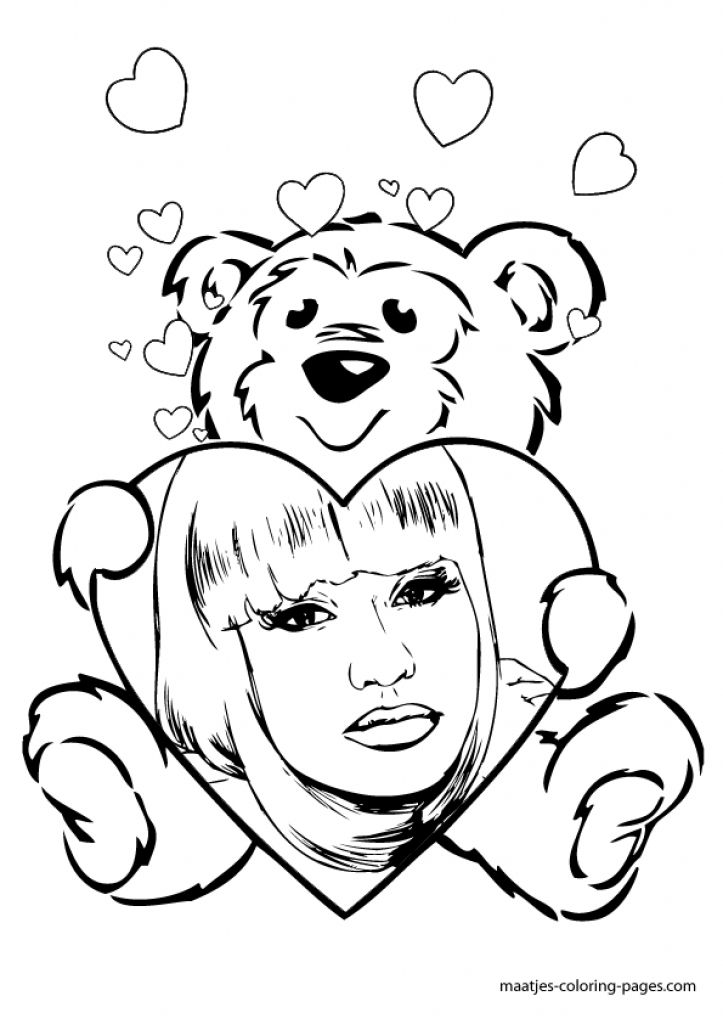 Nicki Minaj coloring #2, Download drawings