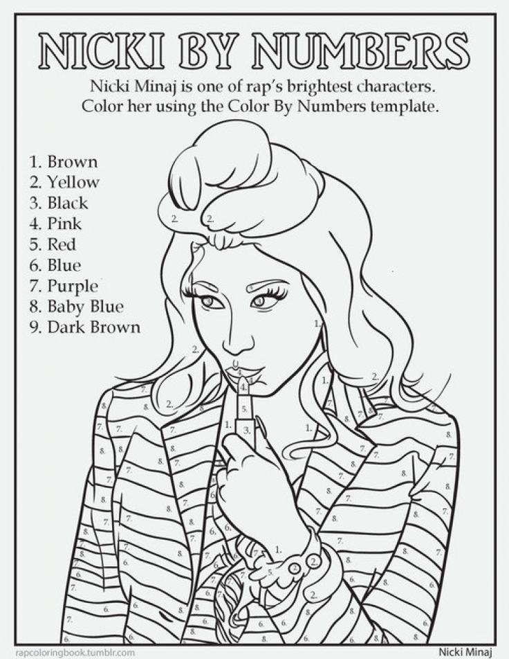 Nicki Minaj coloring #3, Download drawings