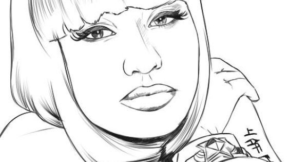 Nicki Minaj coloring #11, Download drawings