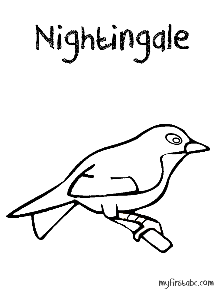 Nightingale coloring #8, Download drawings