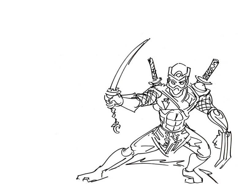 Ninja coloring #19, Download drawings