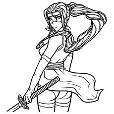 Ninja coloring #11, Download drawings