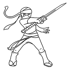 Ninjas coloring #17, Download drawings