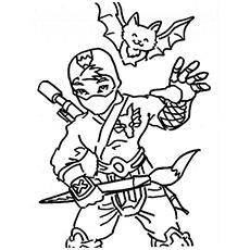 Ninja coloring #14, Download drawings