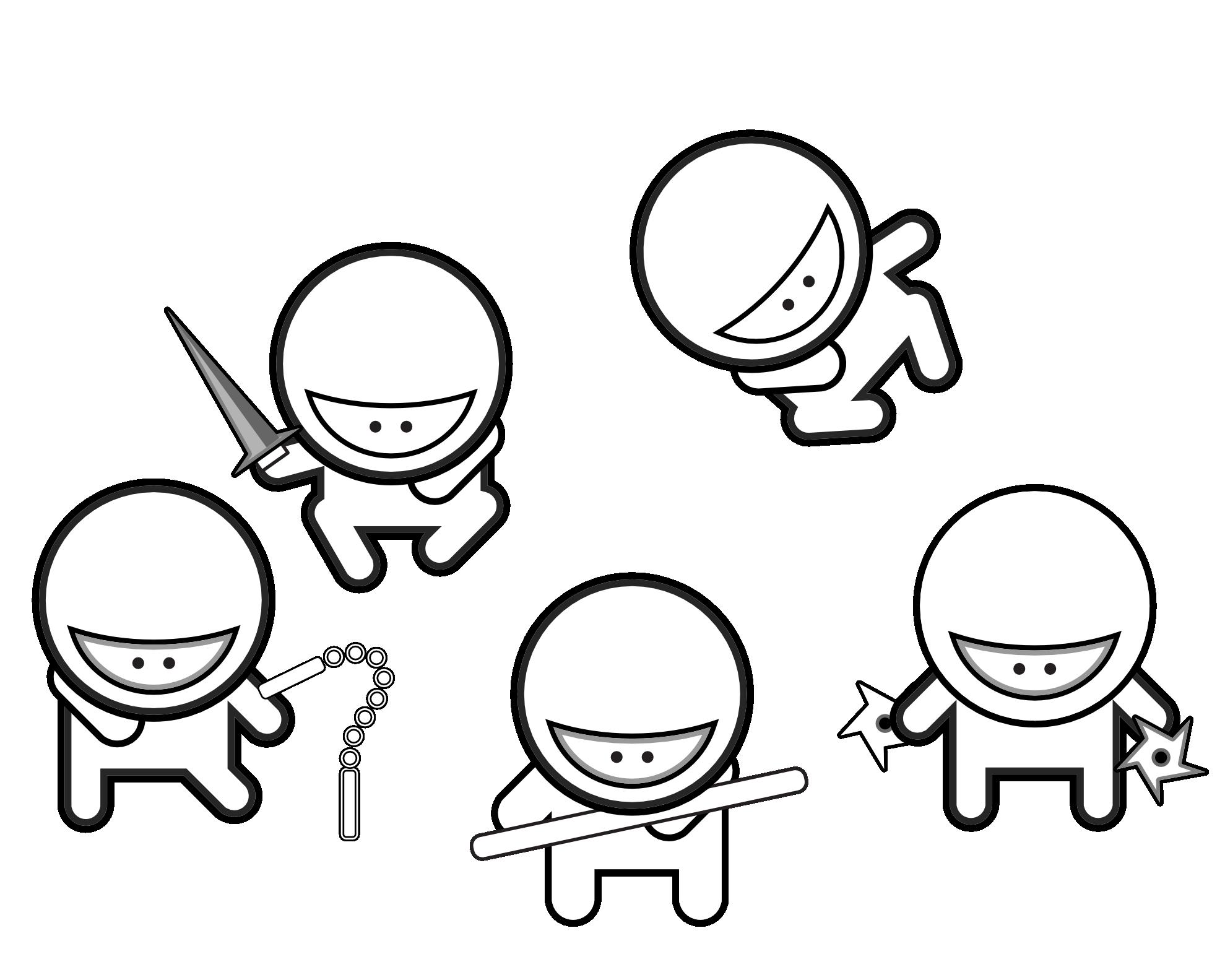 Ninjas coloring #1, Download drawings