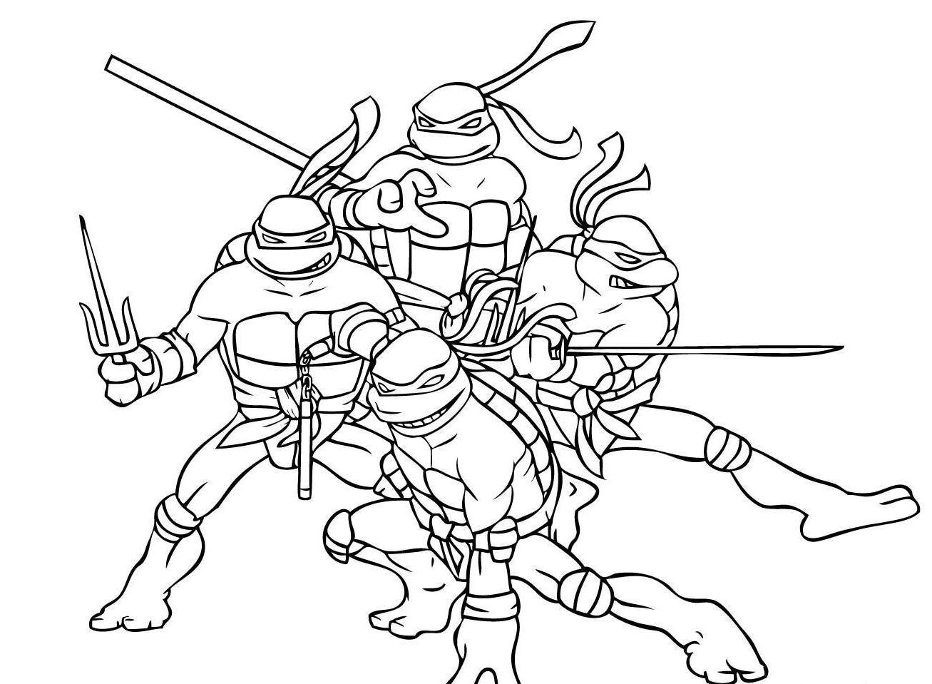 Ninjas coloring #10, Download drawings