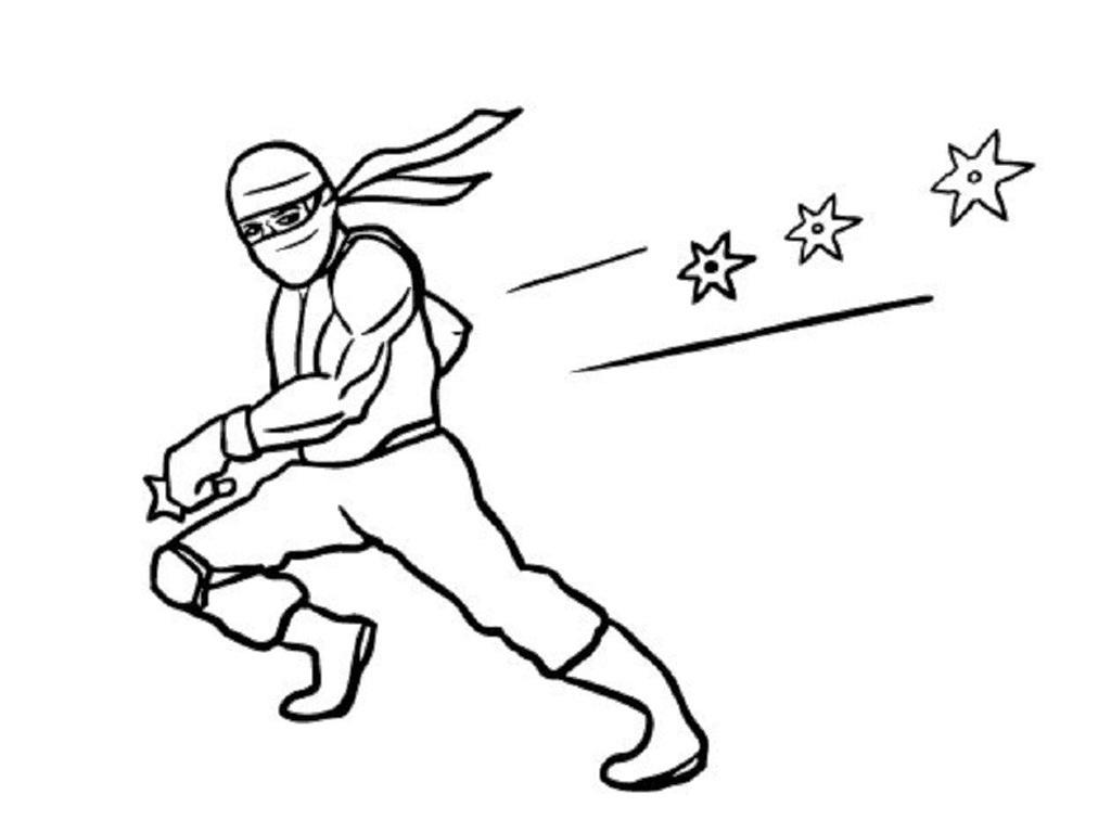 Ninjas coloring #13, Download drawings