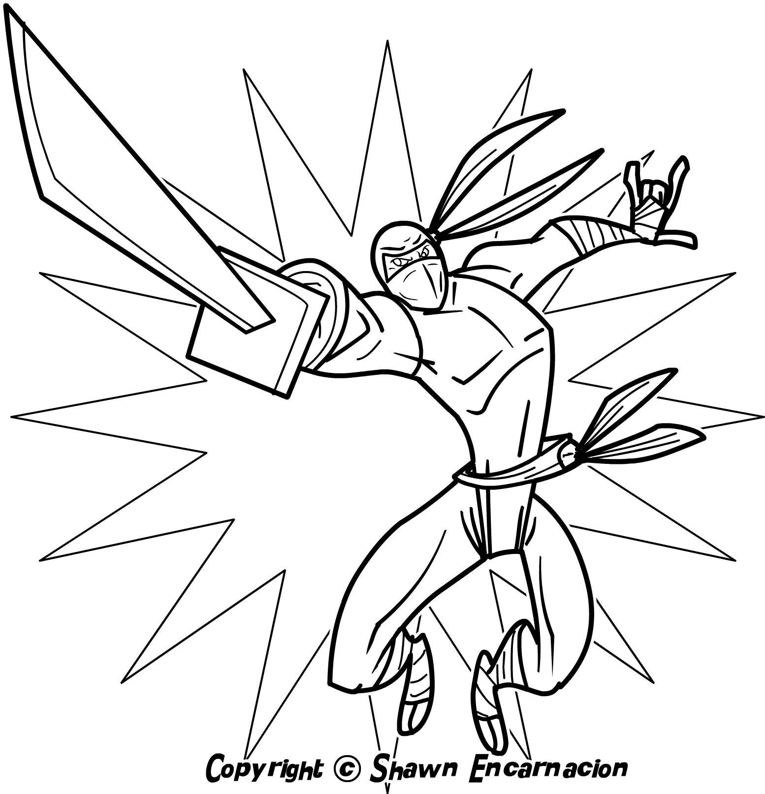 Ninjas coloring #12, Download drawings
