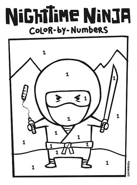 Ninjas coloring #3, Download drawings