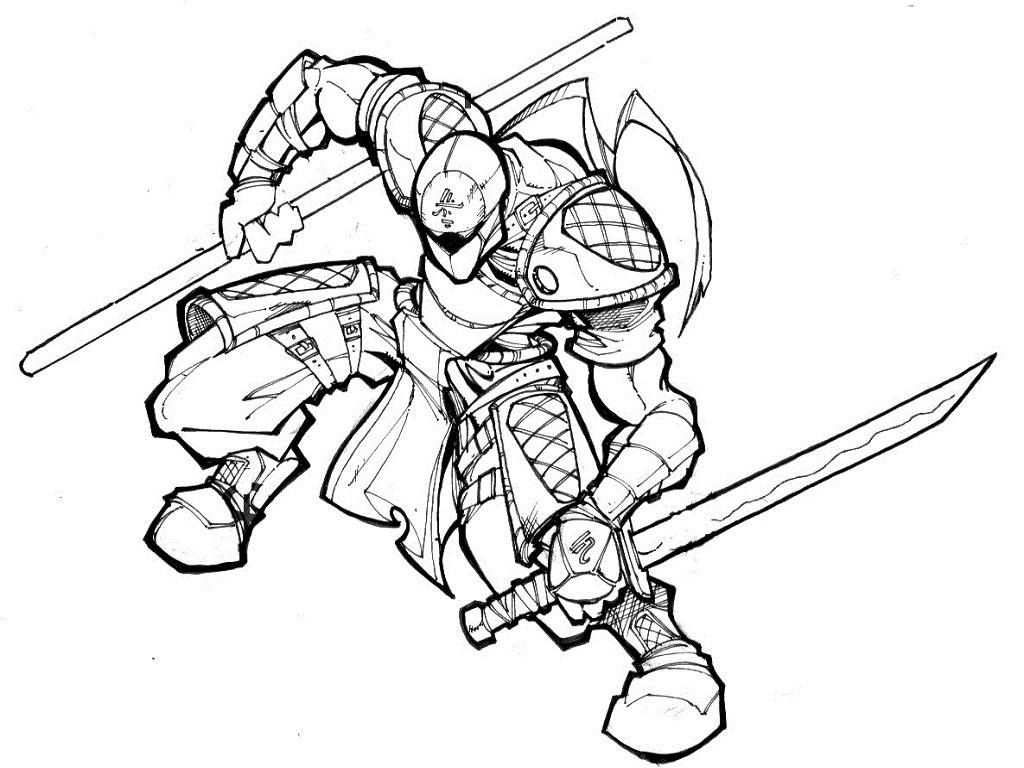 Ninjas coloring #14, Download drawings