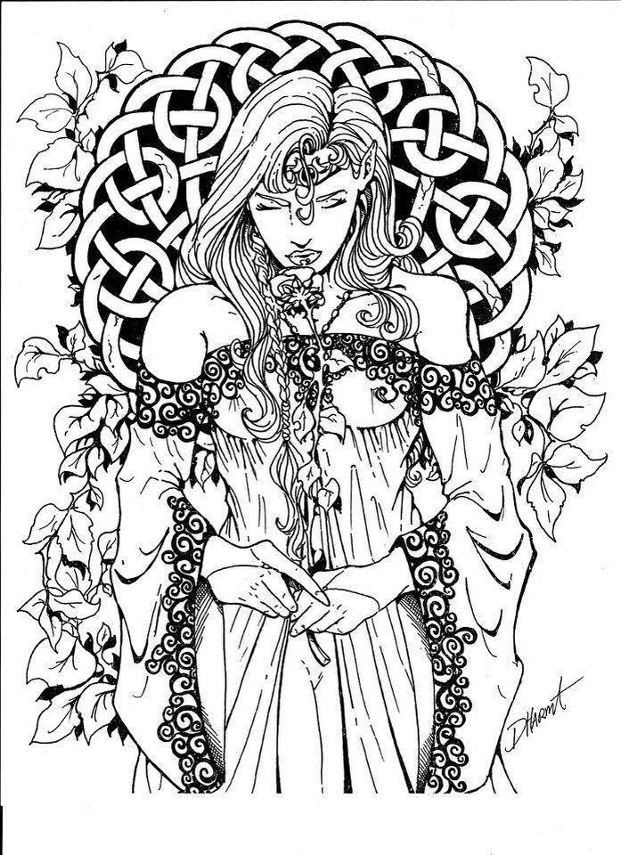 Wiccan coloring #15, Download drawings