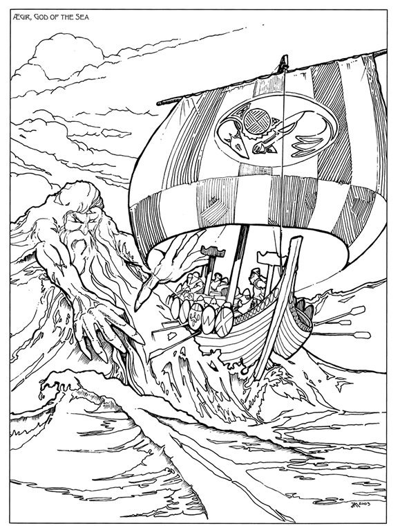 Norse Mythology coloring #19, Download drawings