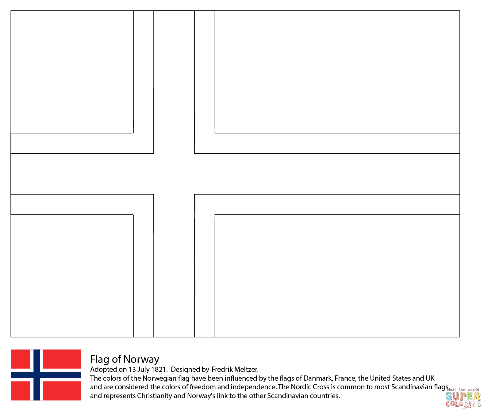 Norway coloring #11, Download drawings