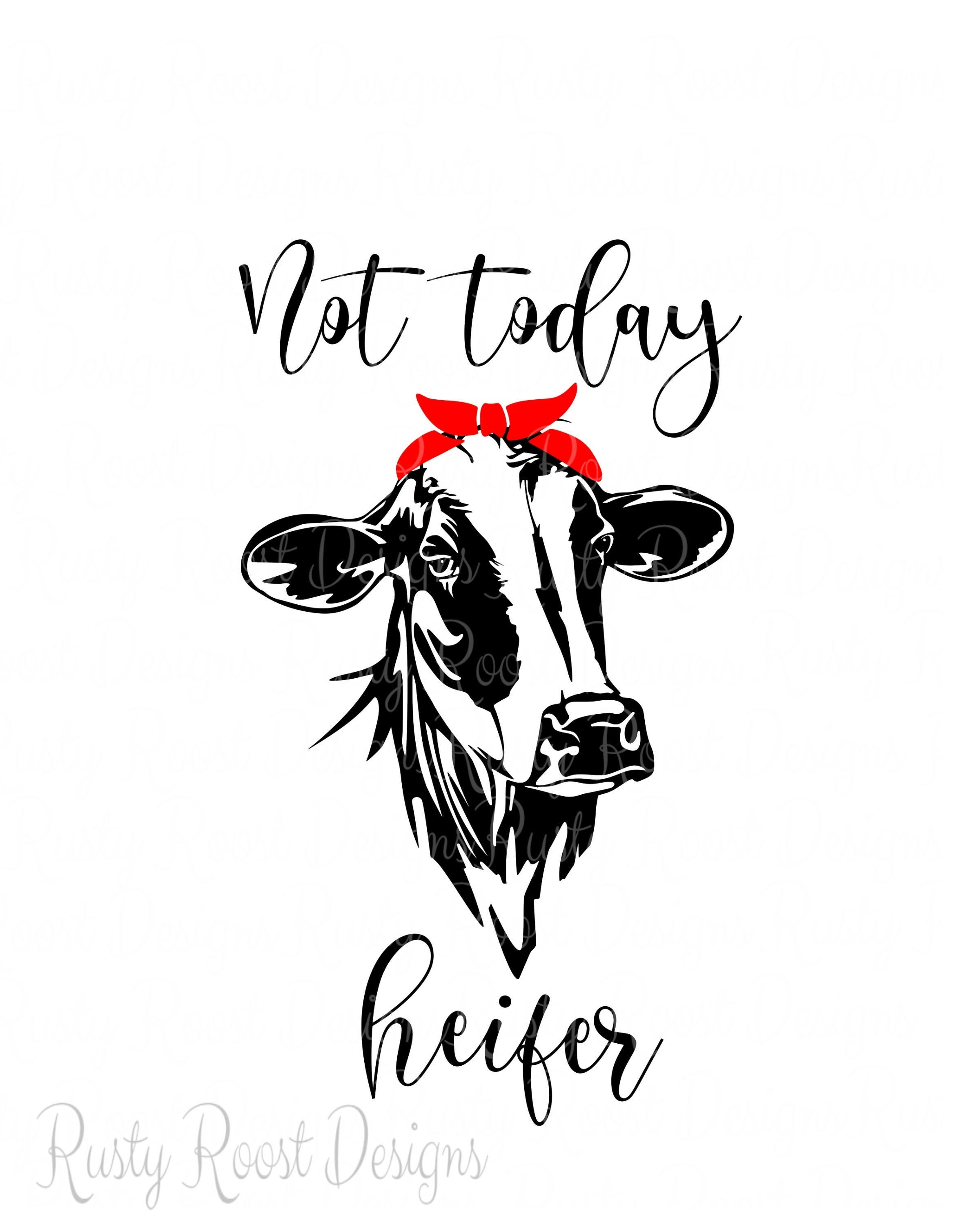 not today heifer svg #373, Download drawings