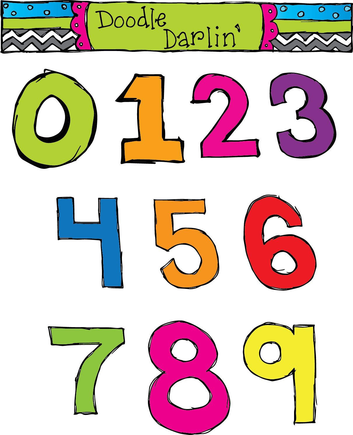 Numbers clipart #12, Download drawings