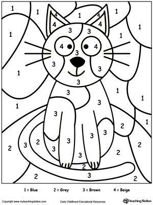 Number coloring #14, Download drawings