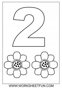 Numbers coloring #20, Download drawings