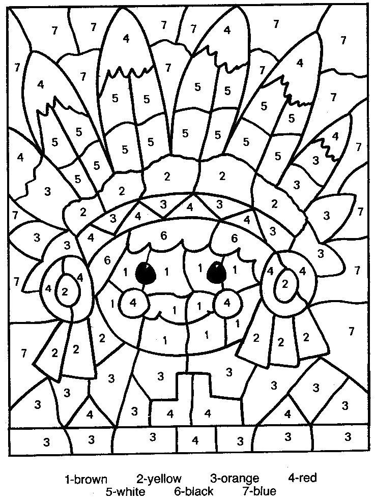 Numbers coloring #19, Download drawings