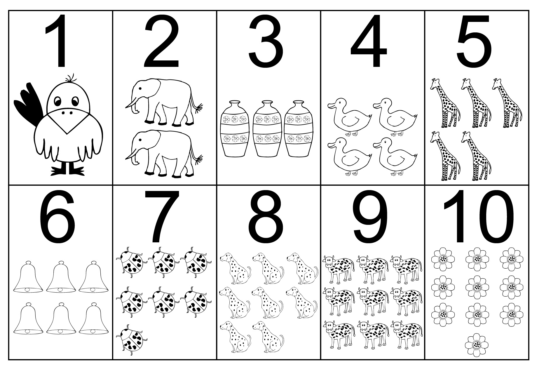 Number coloring #3, Download drawings