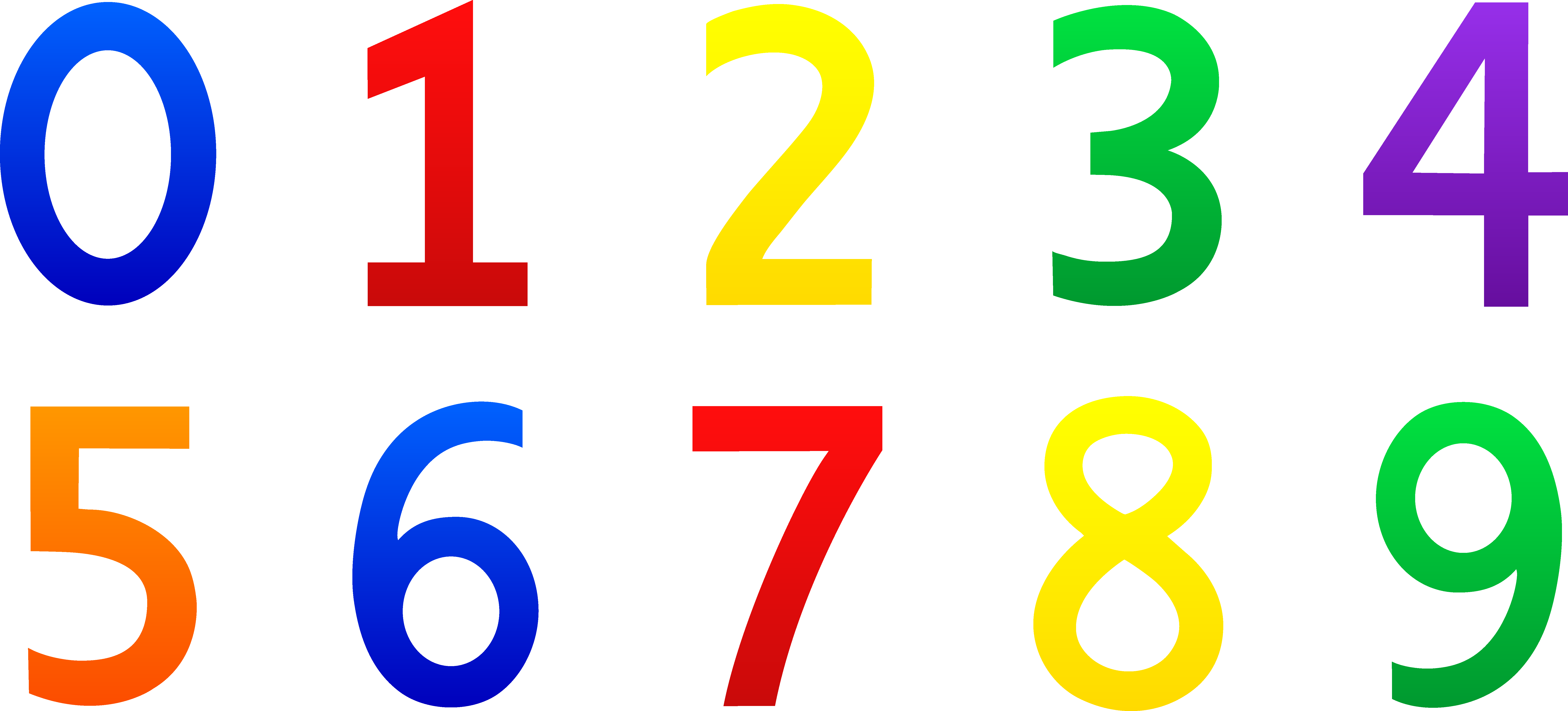 Numbers clipart #2, Download drawings