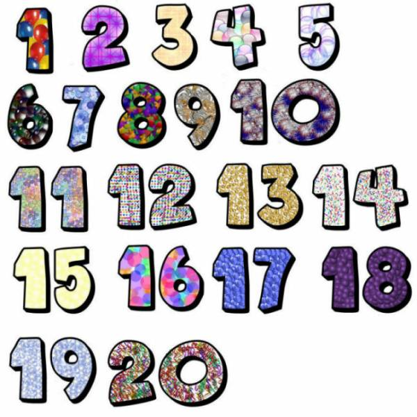 Numbers clipart #4, Download drawings