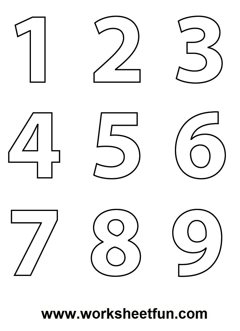 Numbers coloring #9, Download drawings