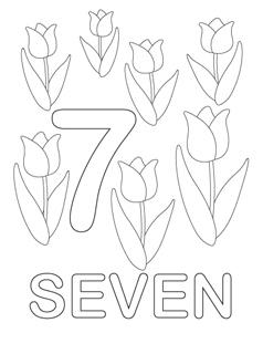 Numbers coloring #7, Download drawings