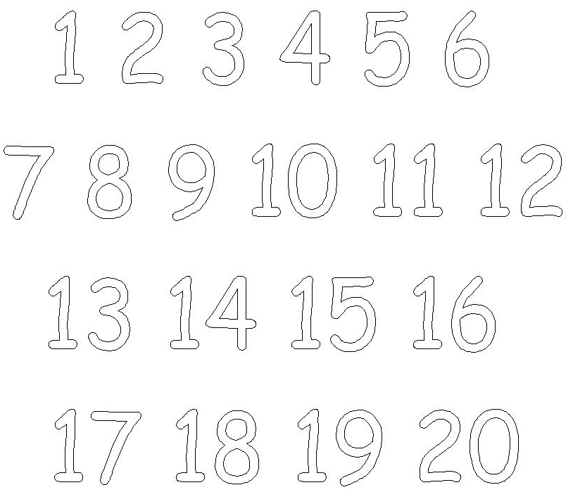 Numbers coloring #8, Download drawings