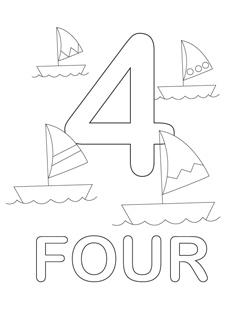 Numbers coloring #5, Download drawings