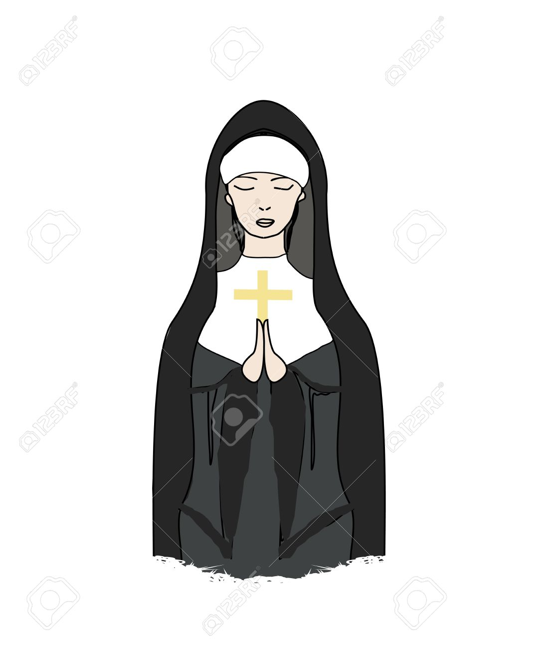 Nun clipart #6, Download drawings