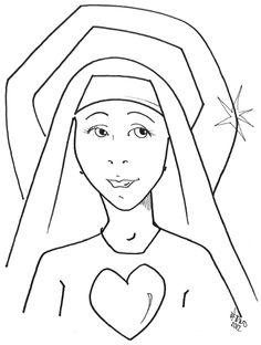 Nun coloring #3, Download drawings