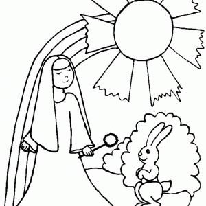 Nun coloring #15, Download drawings