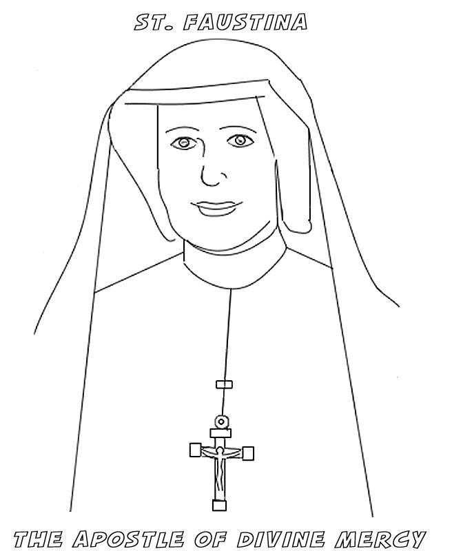 Nun coloring #9, Download drawings