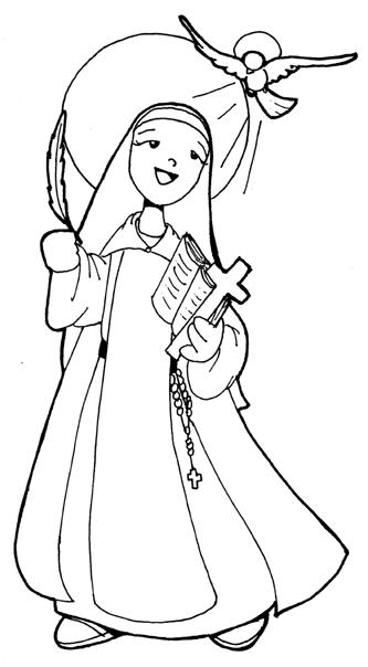 Nun coloring #13, Download drawings
