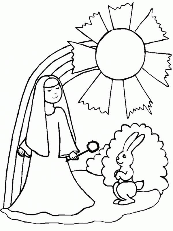 Nun coloring #16, Download drawings