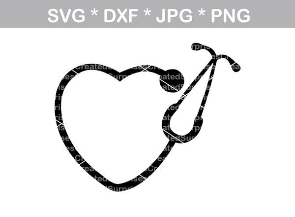 nurse stethoscope svg #537, Download drawings