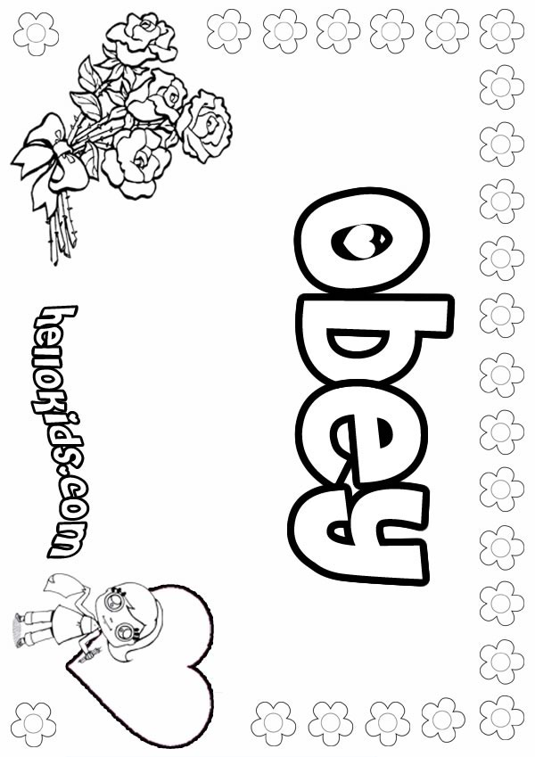 Obey coloring #18, Download drawings
