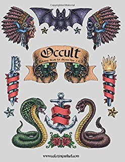 Occult coloring #12, Download drawings