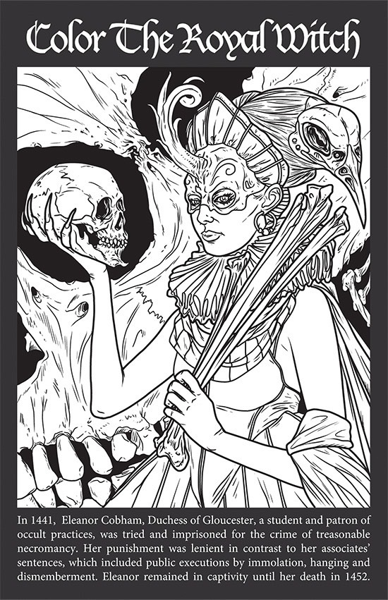 Occult coloring #5, Download drawings